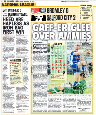 Non League Paper - 16th September 2018