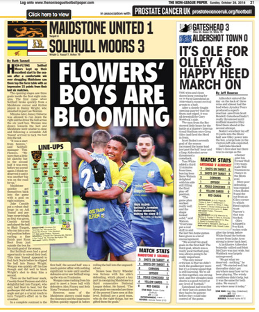 Non League Paper - 28th October 2018
